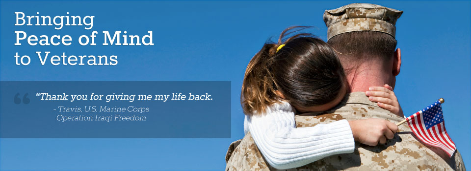 """Thank you for giving me my life back."" - Travis, U.S. Marine Corps, Operation Iraqi Freedom"
